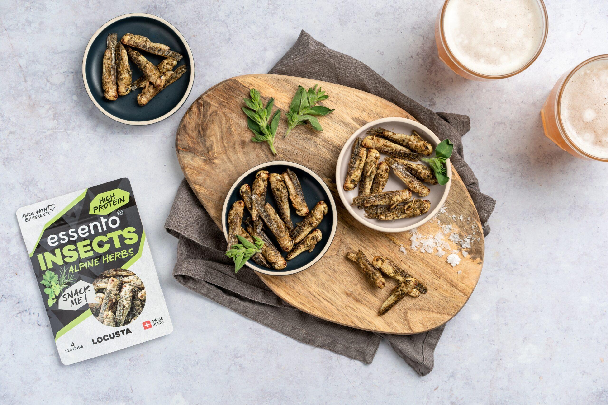 Essento Insect Snacks Alpine Herbs Vorteilspack